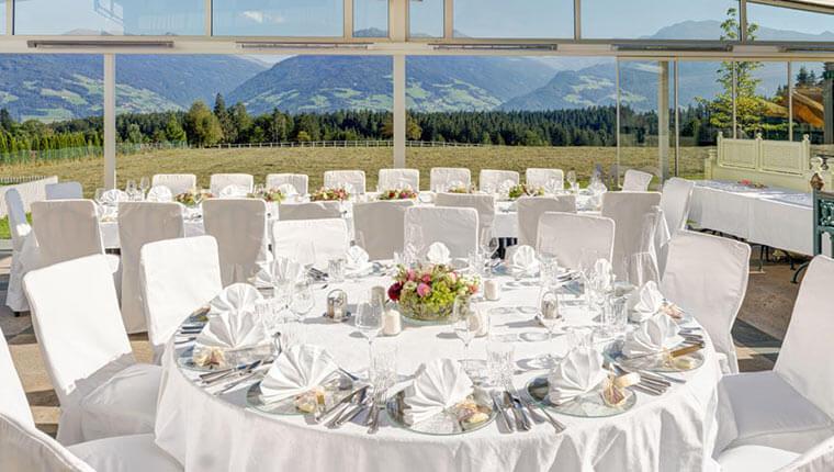 Wintergarten für Hochzeiten